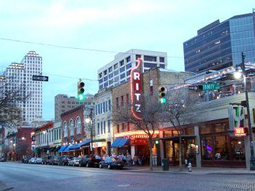 An Austin, Texas street scene.