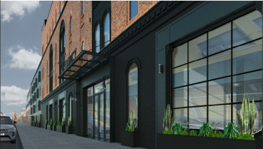 A rendering of the Quincy Street project.