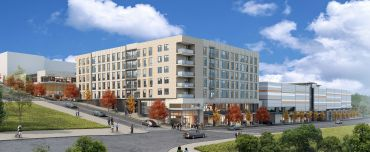 A rendering of the Tacoma mixed-use property.