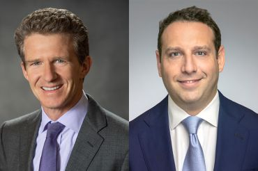 Walker & Dunlop chairman and CEO Willy Walker, left, and AKS Capital Partners co-founder and former head of debt, equity and structured finance at JLL.