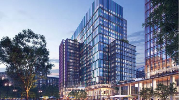 ZGF's rendering for Amazon HQ2