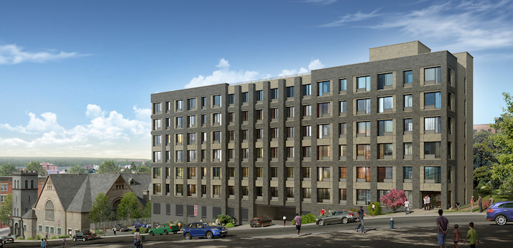 A rendering of the planned Yonkers project.