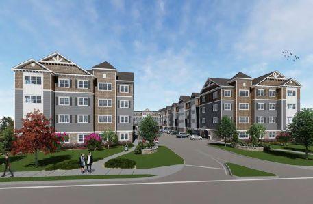 A rendering of the Feil Organization's planned apartment building in Oceanside, N.Y.