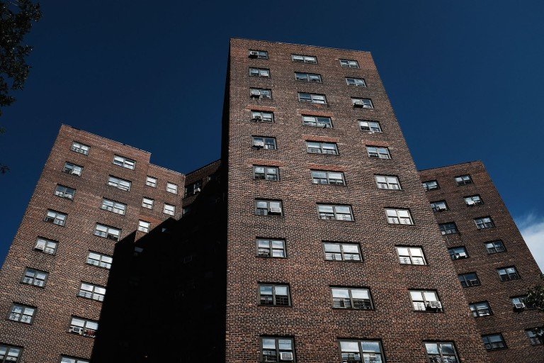 A NYCHA development in Brooklyn