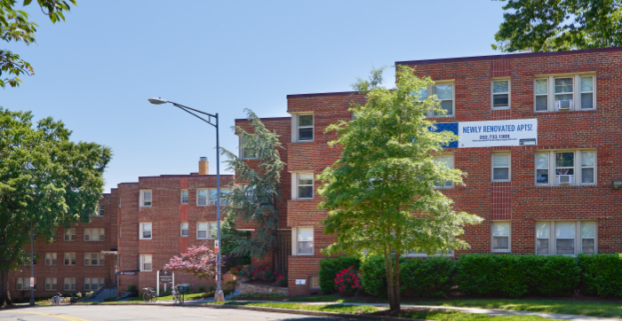90-unit Glenwood Apartments.