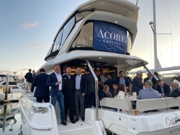 The MBA CREF 2020 party on ACORE Capital's boat.