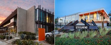 From left, the office at 5340 Alla Road and the office at 12901 West Jefferson Boulevard, both in Playa Vista.