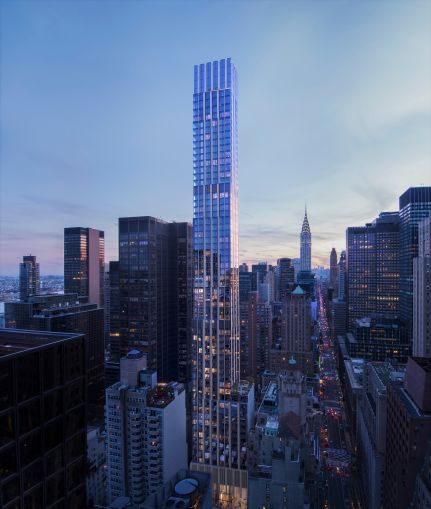 A rendering of The Centrale at 138 East 50th Street.