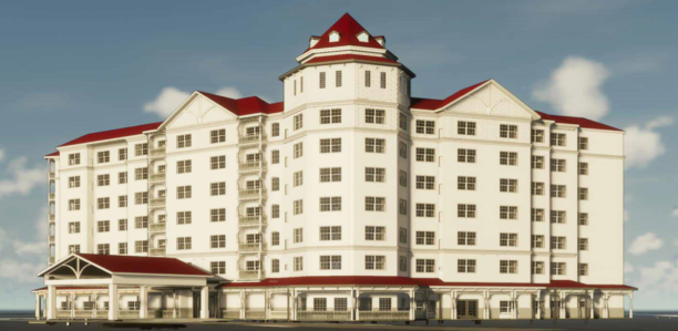 A rendering of the planned Residence Inn near Disney World.