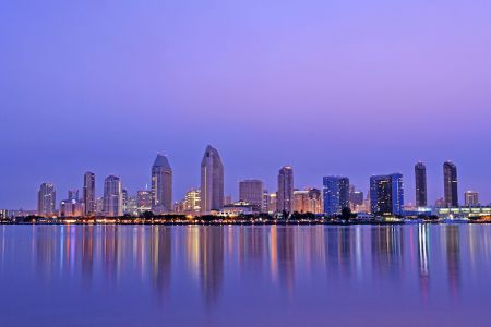 A view of the San Diego skyline.