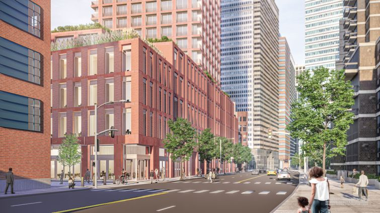 250 water street rendering, south facing view
