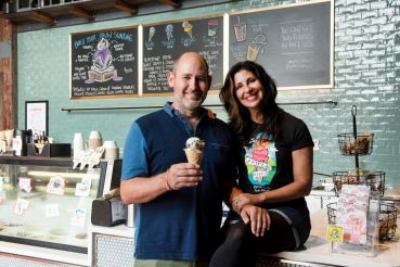 Ample Hills founders Brian Smith and Jackie Cuscuna