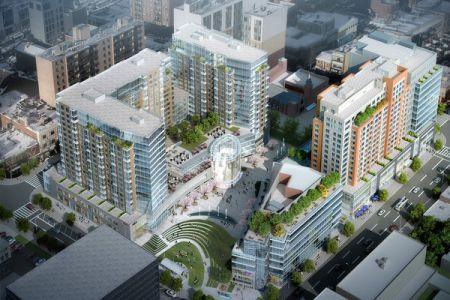 A rendering of Flushing Commons.