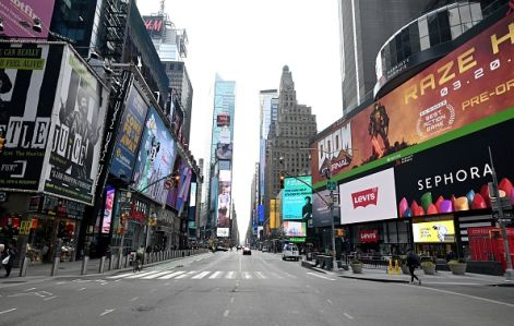times square during coronavirus shutdown