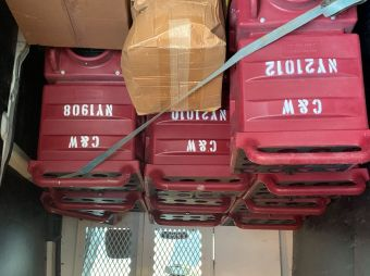 Caldwell & Walsh has loaned 10 of its negative air machines to a local hospital .