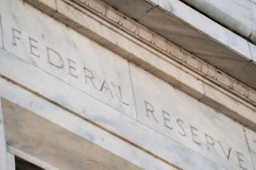 Signage on the U.S. Federal Reserve building in Washington D.C.