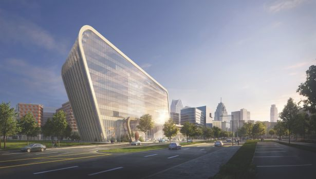Detroit Center for Innovation rendering by KPF