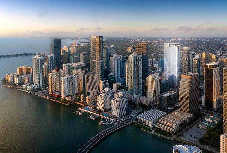 Miami skyline, 830 Brickell Tower
