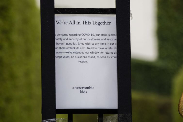 Abercrombie & Fitch Sign