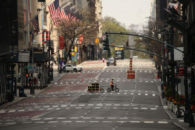 Fifth Avenue during the coronavirus shutdown.