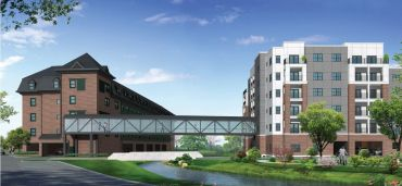 Rendering of Brookview Commons Phase 1 and 2.