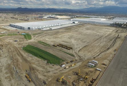 Ontario Ranch Logistics Center is a 124-acre multi phase development. Above is the site Uline's future building.