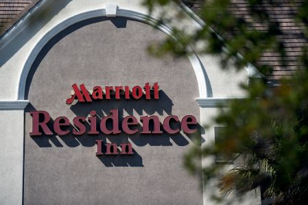 Signage on a Marriott-branded Residence Inn.