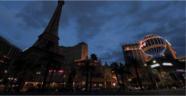 NO DICE: The spread of coronavirus effectively closed down Las Vegas and its famed casinos in mid-March.