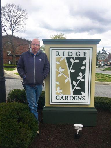 CRC employee Tom Bosley atRidge Garden Apartments in Parkville, Maryland