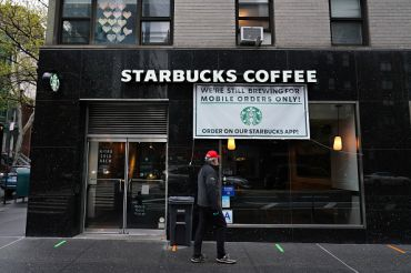 Starbucks store in New York City.
