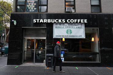 Starbucks store in New York City.
