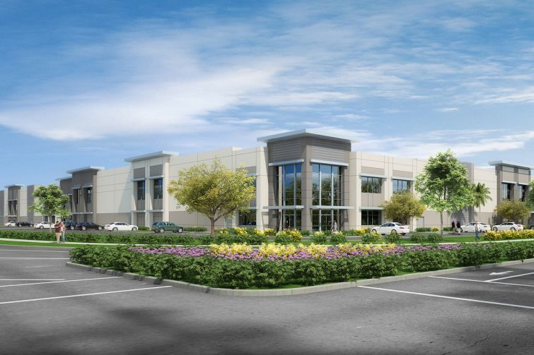 In addition to its new investment fund, CapRock is also an active developer, and recently completed the first phase of Colony Commerce Center above, located in the city of Ontario in the Inland Empire.