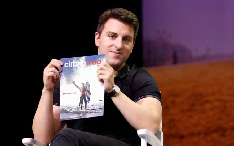 Airbnb CEO Brian Chesky around the time the company announced it was laying off some 1,900 employees amid steep losses during the early days of COVID.