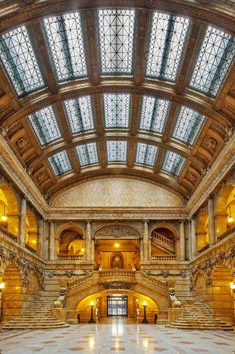 NYC Surrogate Court atrium