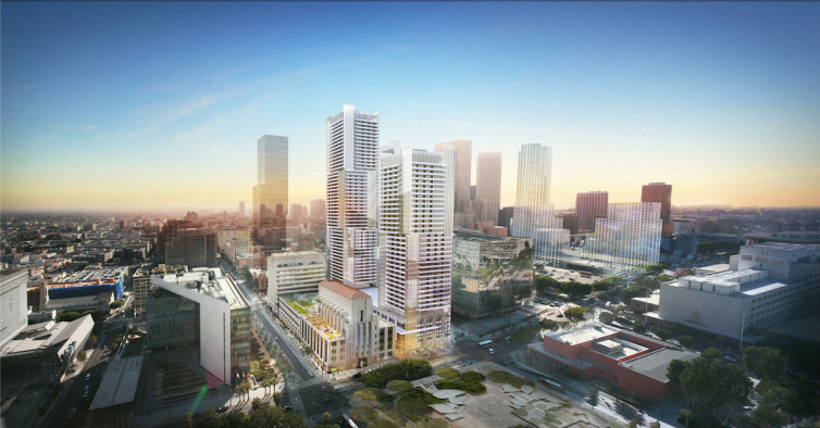 Onni Group's project would add two towers with more than 1,100 condos in the heart of Downtown Los Angeles.