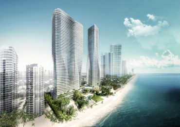 A preliminary rendering of 18801 Collins Avenue.