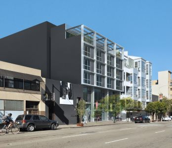 A rendering of the mixed-use development at 1178 Folsom Street in San Francisco.