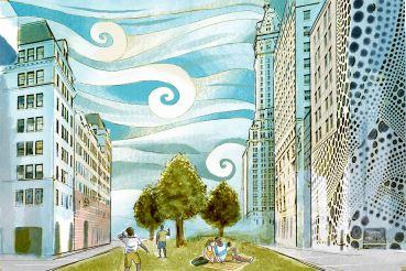 fifth ave pedestrianized park