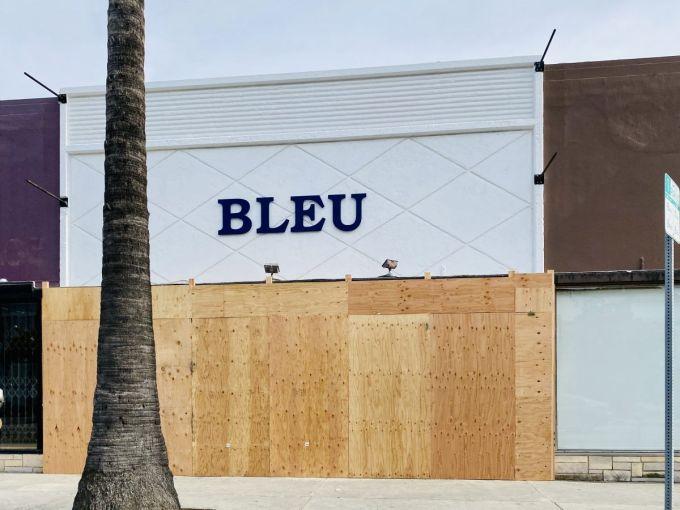 Bleu clothing store at 7378 Beverly Boulevard.