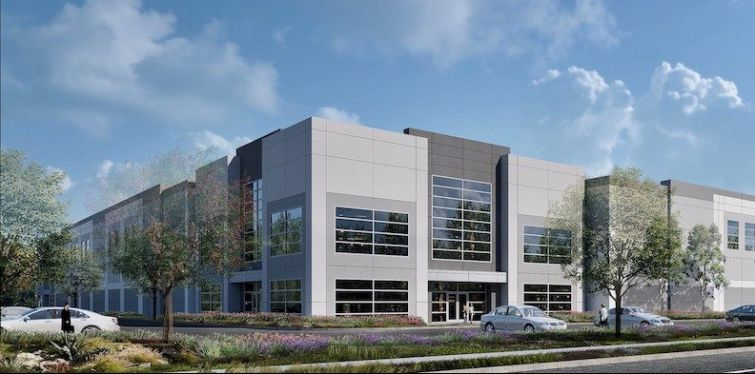 Crews broke ground in April on the $40-million Fontana Santa Ana Industrial Center