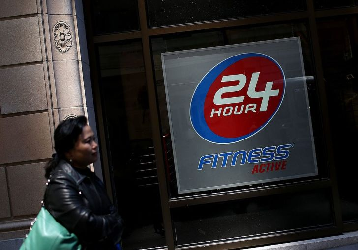 24 Hour Fitness.