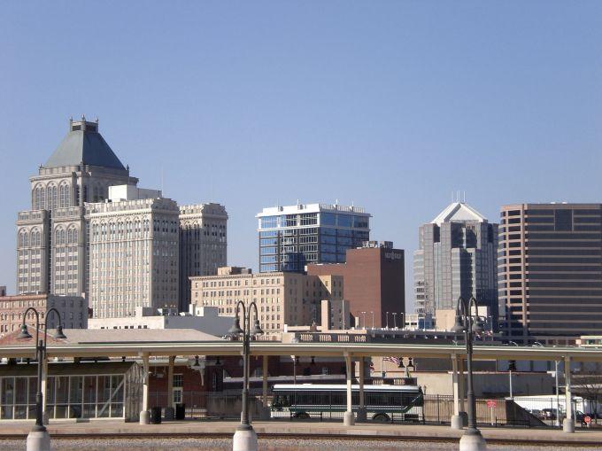The Greensboro, N.C. skyline.