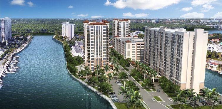 A rendering of Las Marinas Apartments in Sunny Isles Beach, Fla.
