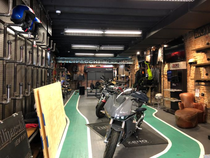 The majority of the merchandise at Filipacchi, including motorcycles and ebikes, was stolen during the looting.