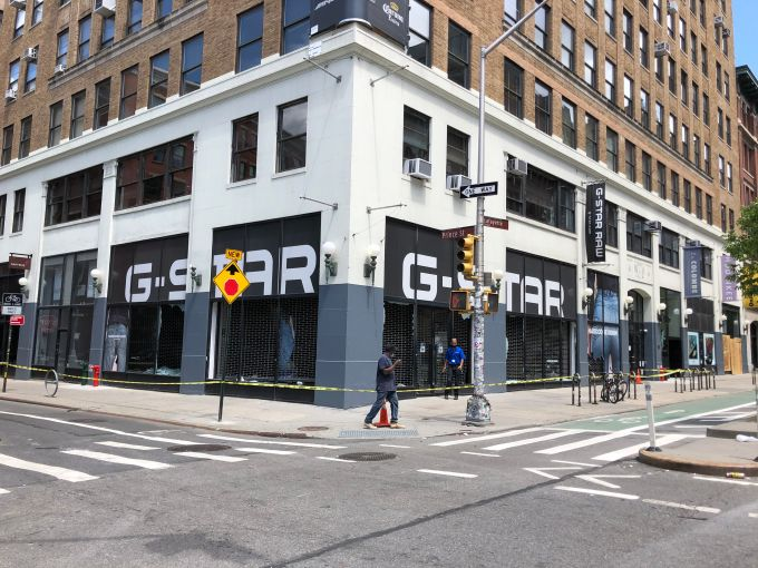 The exterior of G-Star's Soho store.