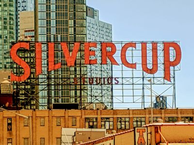 The Silvercup Studios sign.