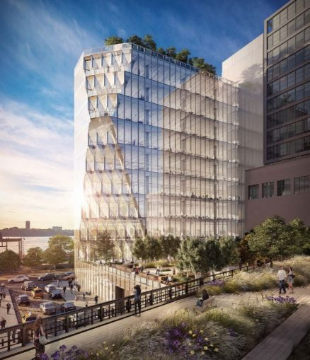 A rendering of 40 10th Avenue in the Meatpacking District.