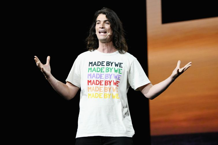 Adam Neumann speaks onstage during WeWork Presents Second Annual Creator Global Finals at Microsoft Theater on January 9, 2019 in Los Angeles, California