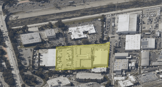 The property at 4561 Colorado Boulevard is located between the L.A. River and West San Fernando Boulevard.