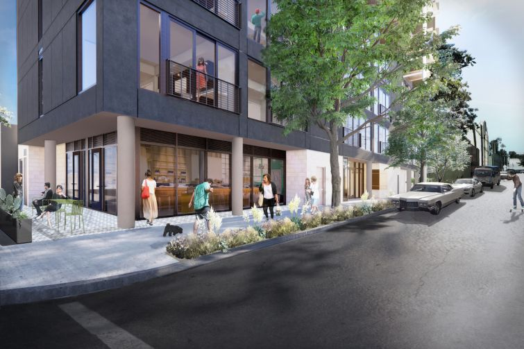 The multifamily project is located at 1621 North McCadden Place near Sunset Boulevard and the Hollywood Walk of Fame.
